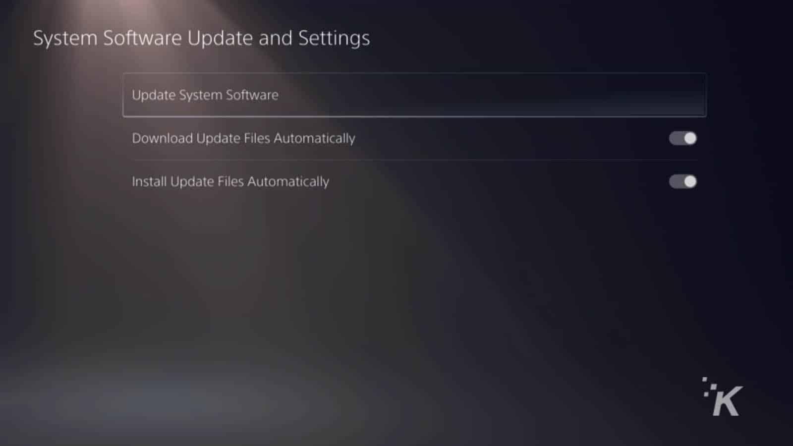 ps5 update screens
