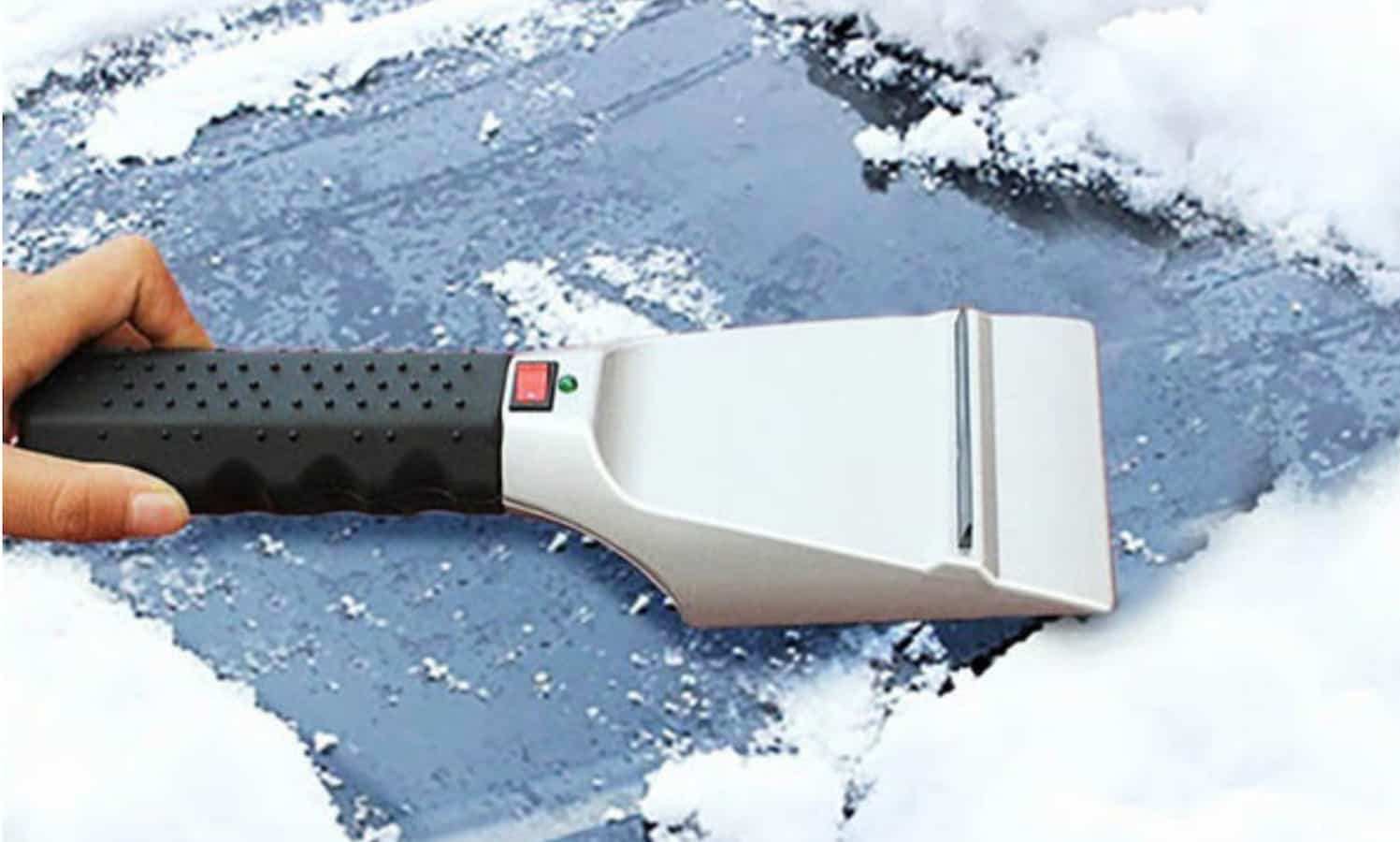 portable heated ice scraper