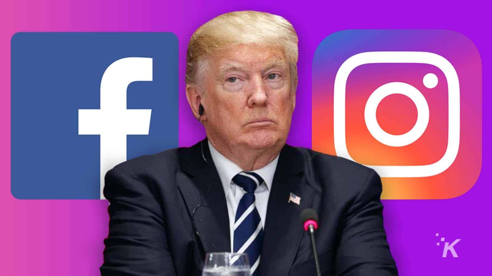 trump facebook instagram ban