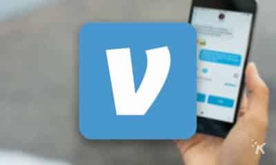 venmo app on blurred background