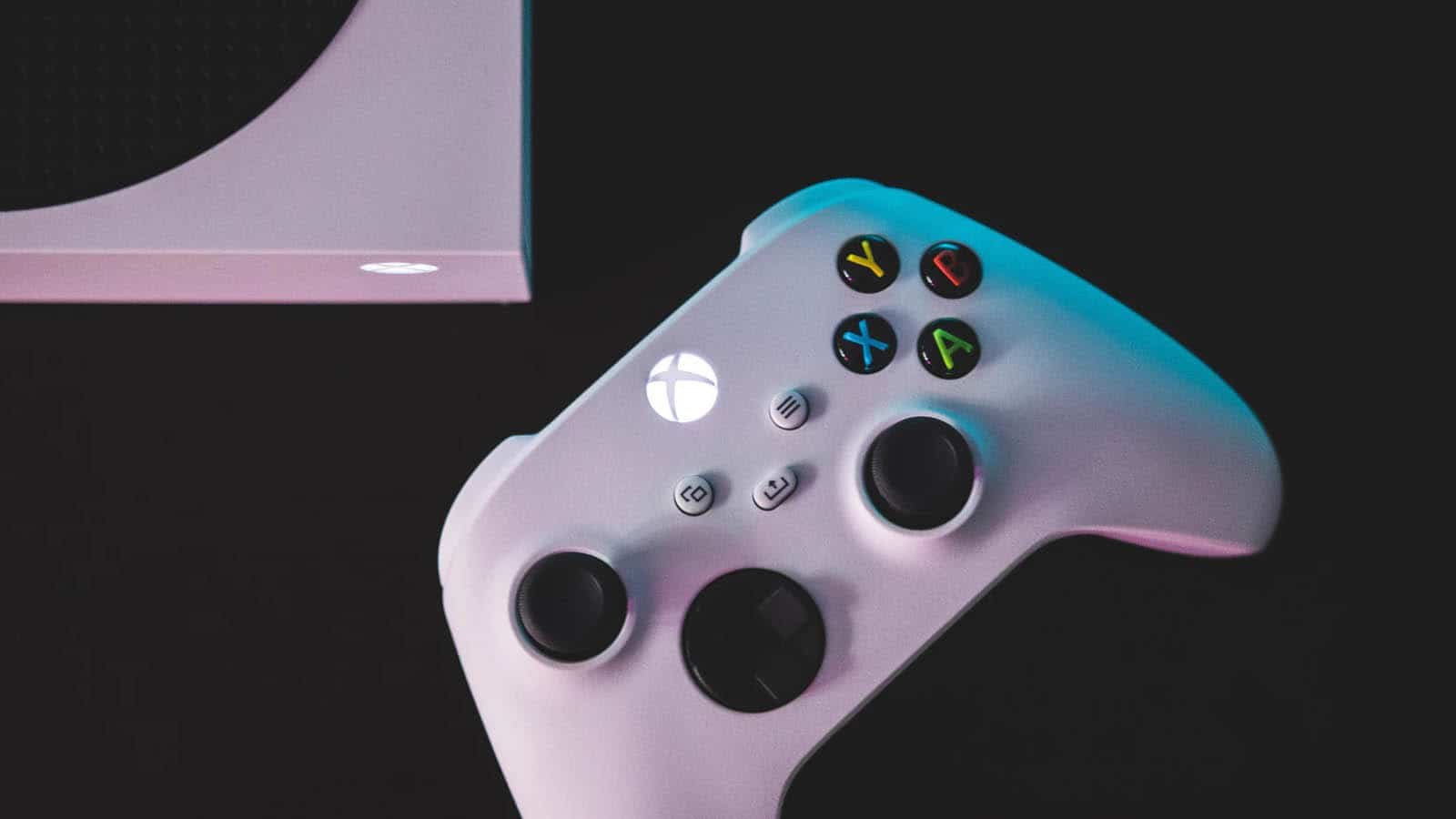 video game controller on table