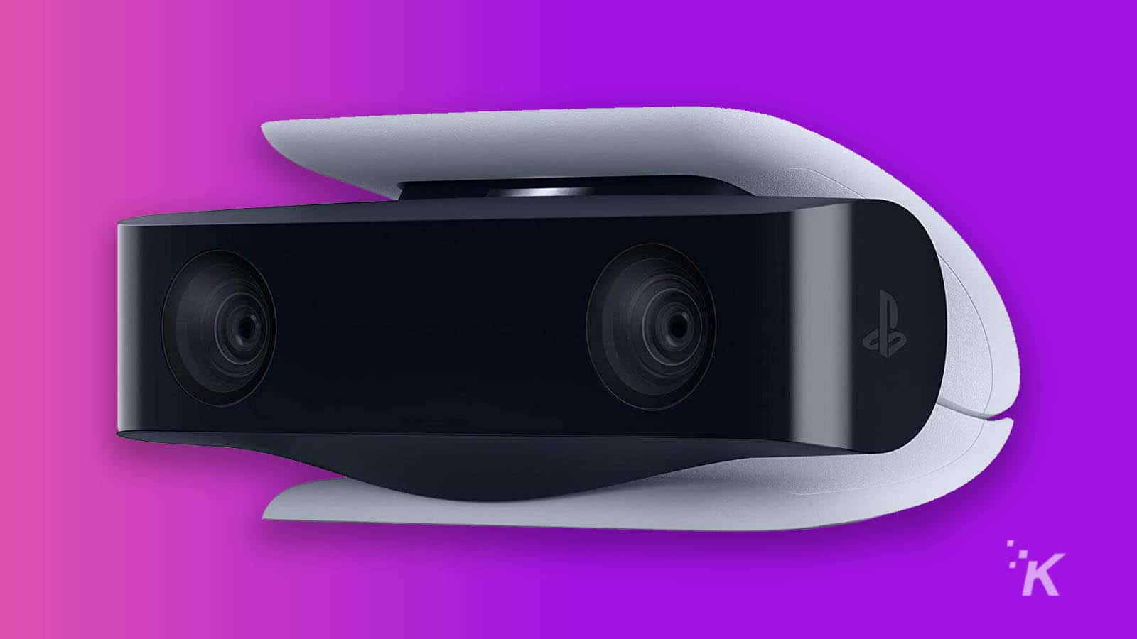 sony playstation 5 hd camera on purple background