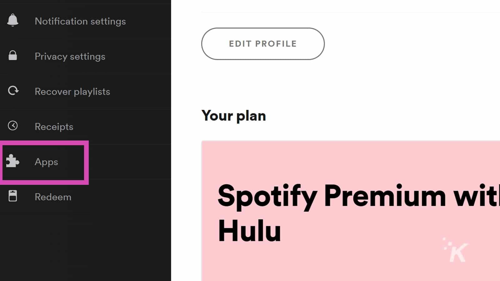 spotify apps in accounts