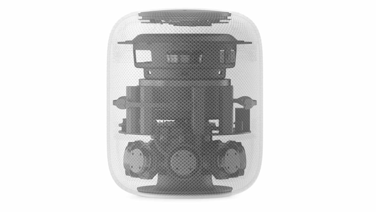 apple homepod transparent view to show the internal components