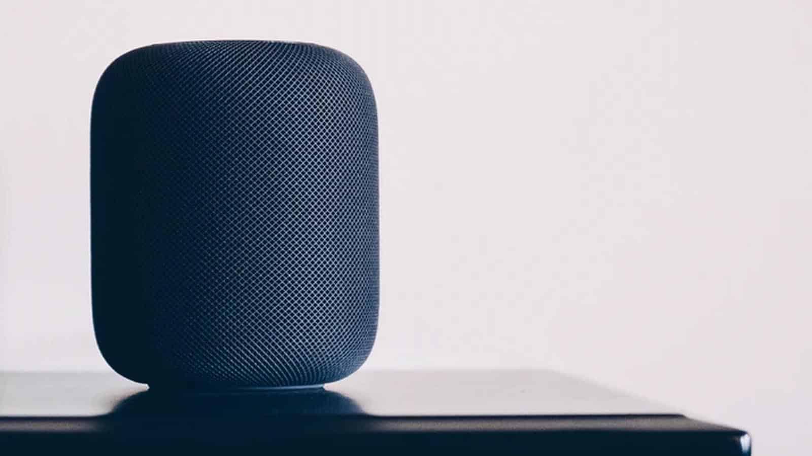 apple homepod on table