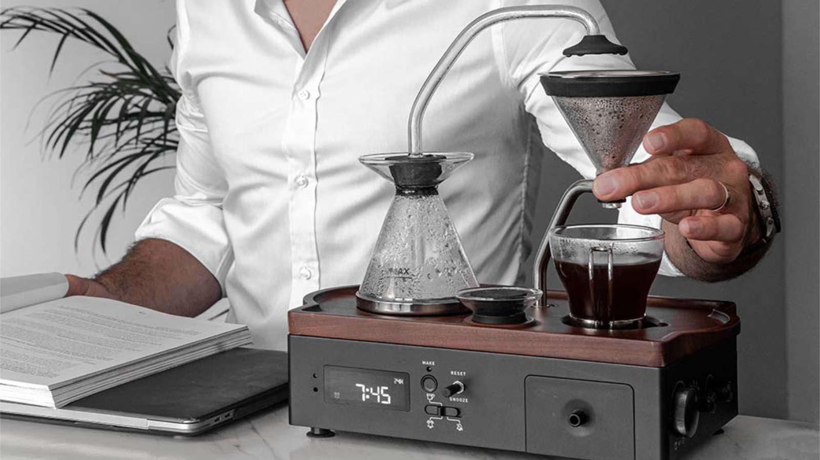 barisieur tea and coffee alarm clock