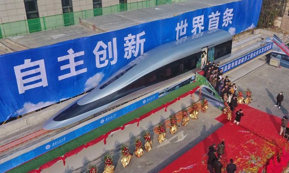 China has a new train that can go a record-setting 385 mph
