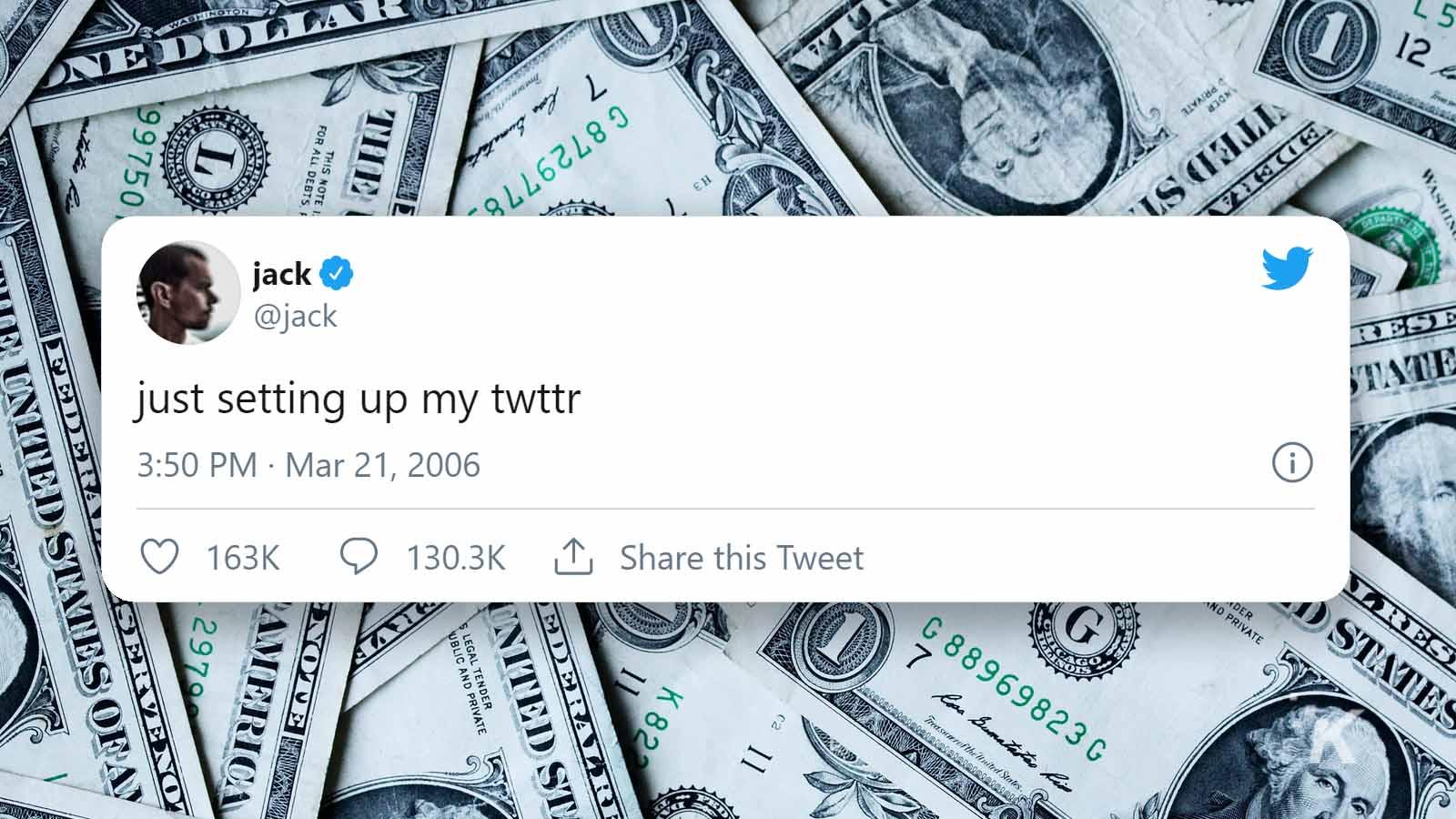 jack dorsey's first tweet on twitter