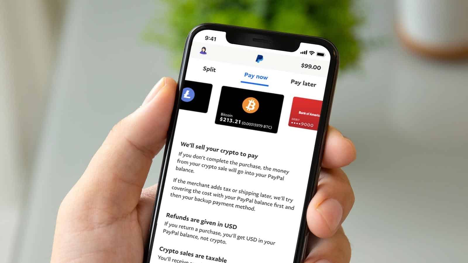 paypal crypto purchases on smartphone