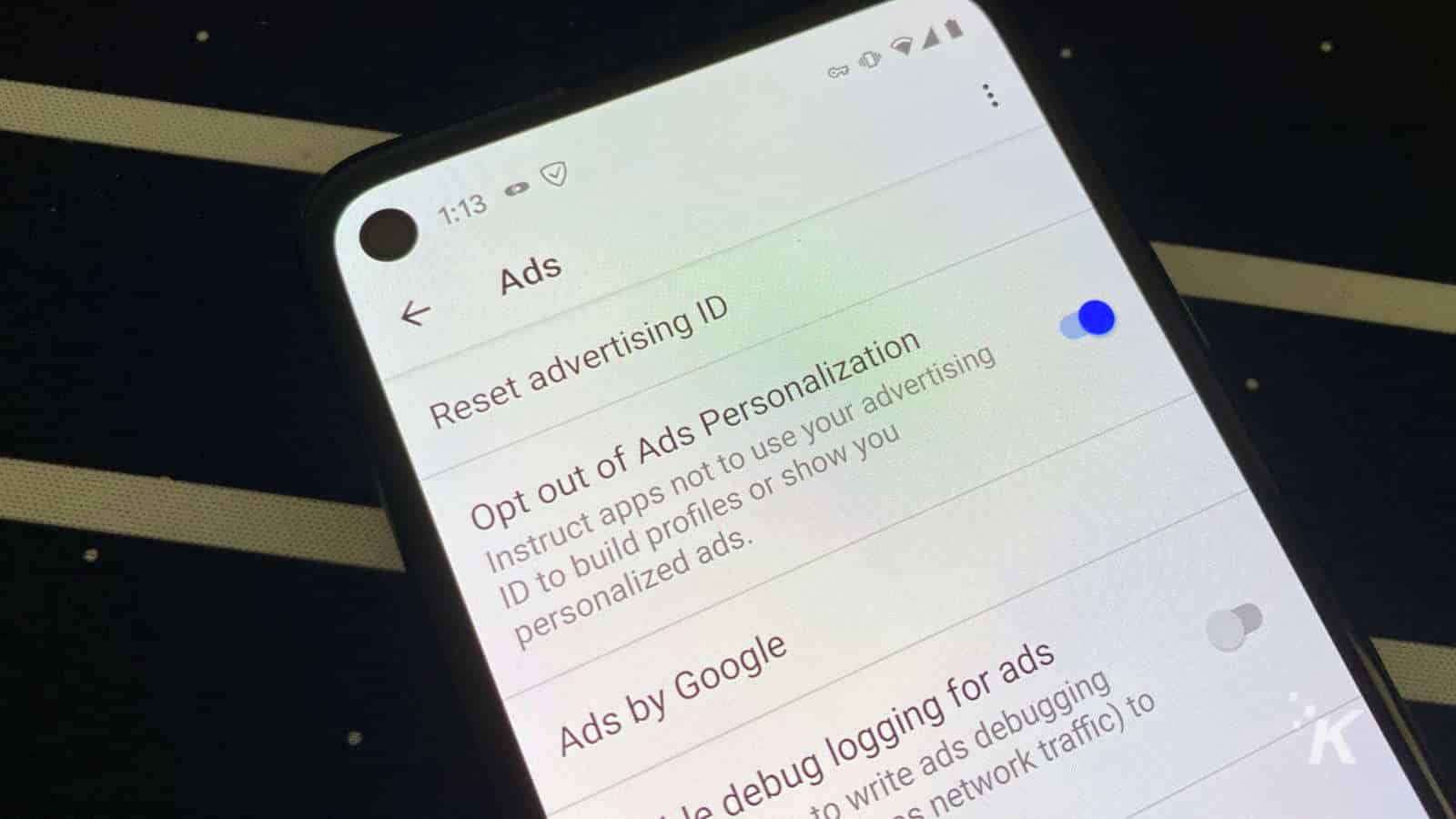 android opt out of ads personalization