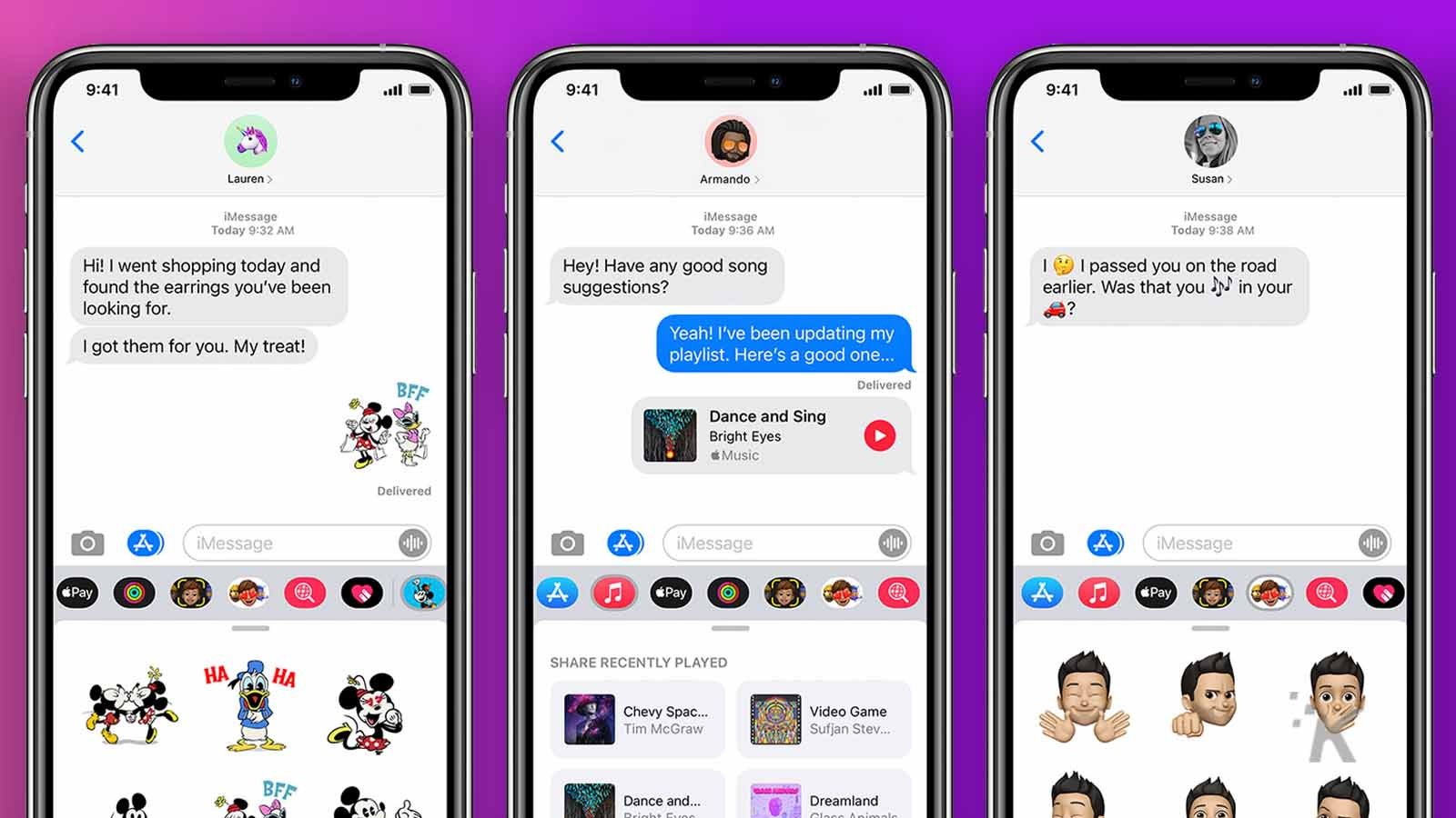 apple imessage examples