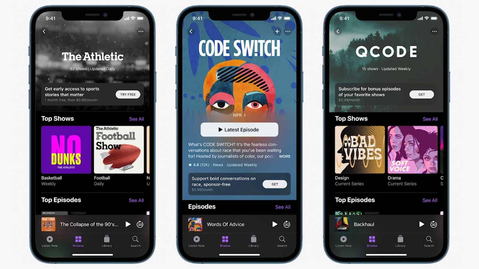 apple podcasts new updates 2021