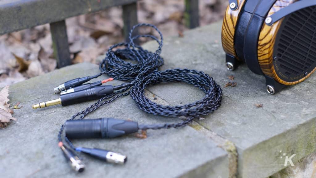 audeze lcd3 planar headphones with cables