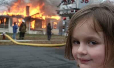 burning house meme nft