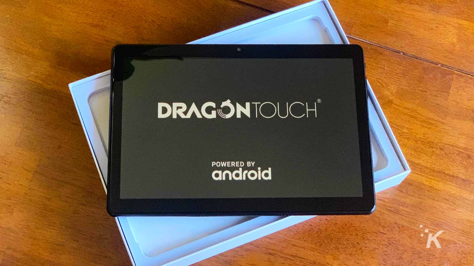 dragon touch tablet on table
