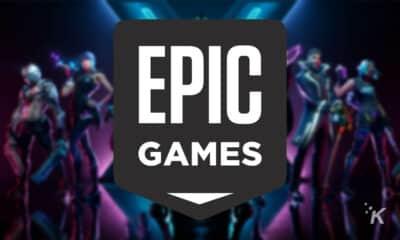 epic games logo on blurred background