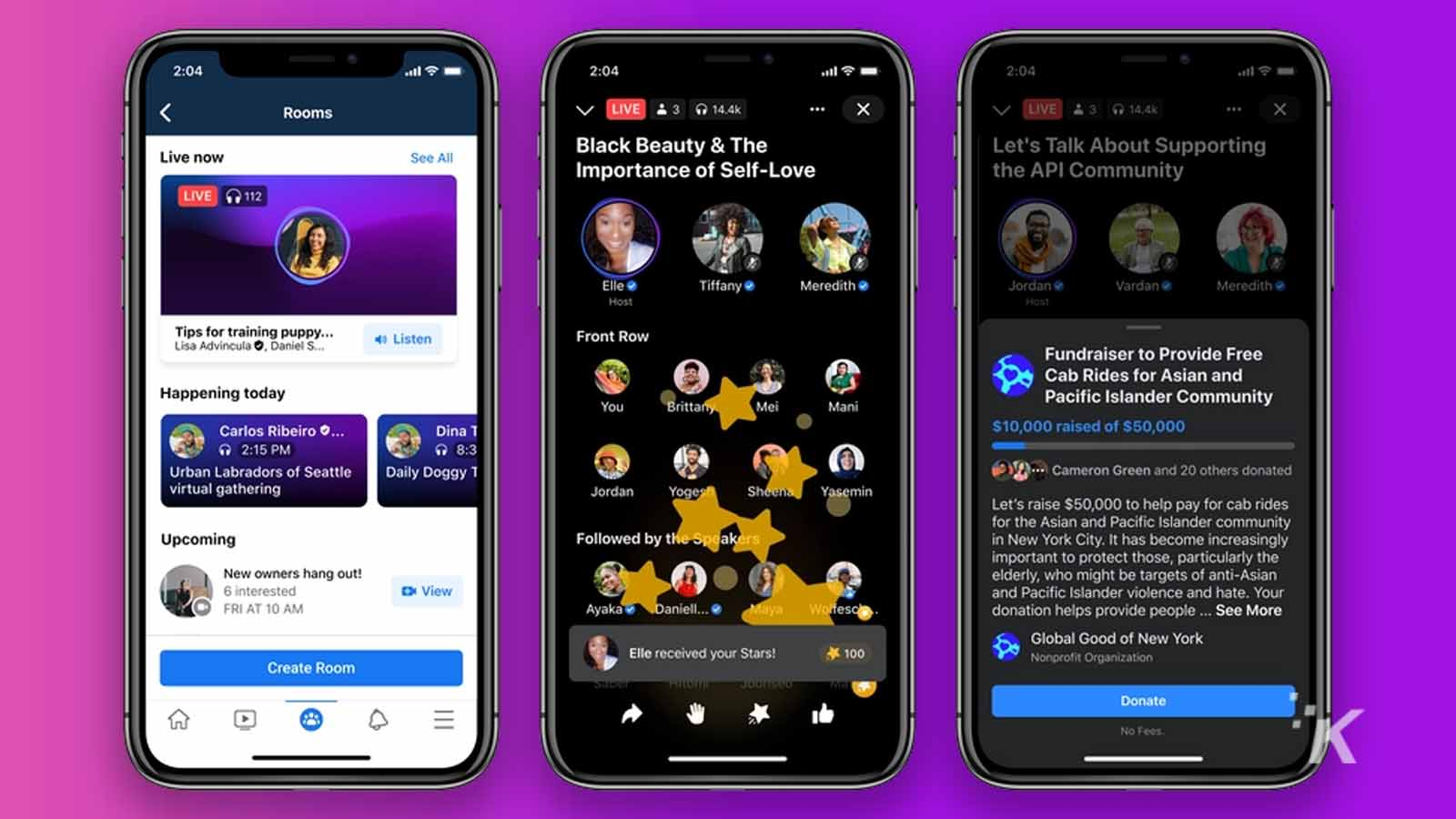 facebook audio-only chatrooms