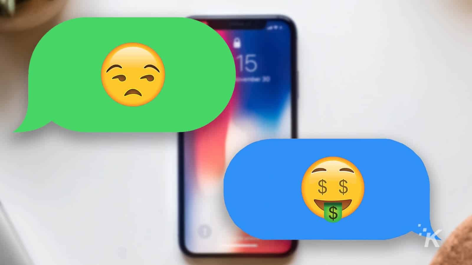 imessage convo between apple and android