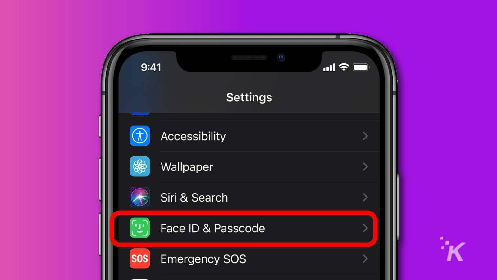 apple ios settings face id