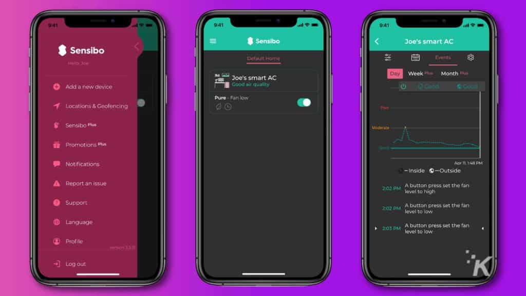 sensibo pure app