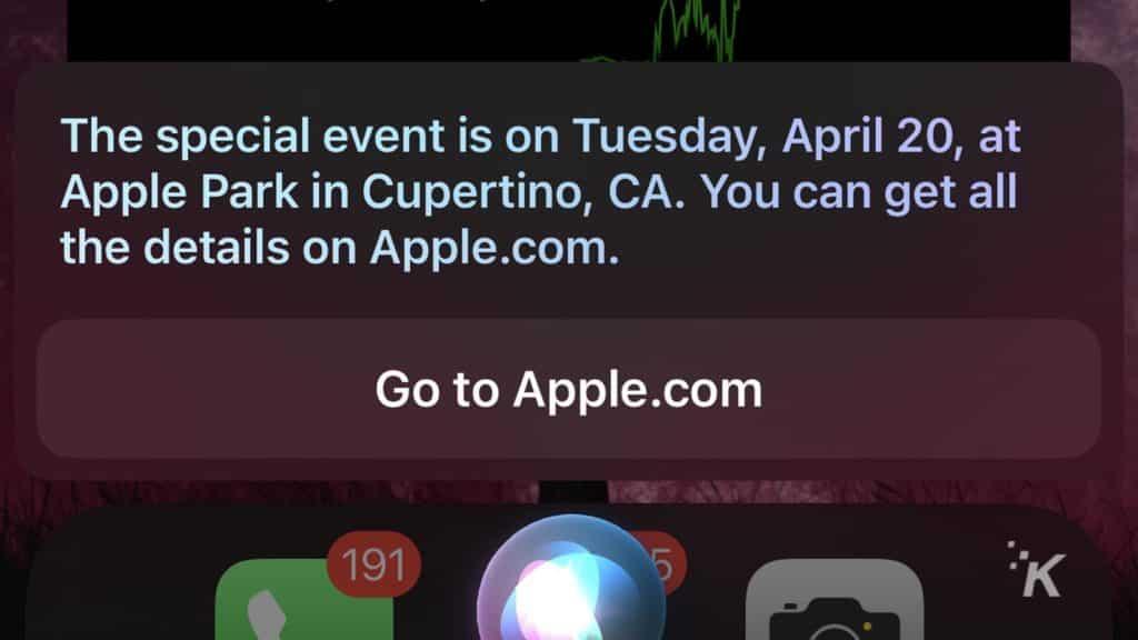 siri apple events