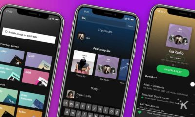 spotify app on purple background