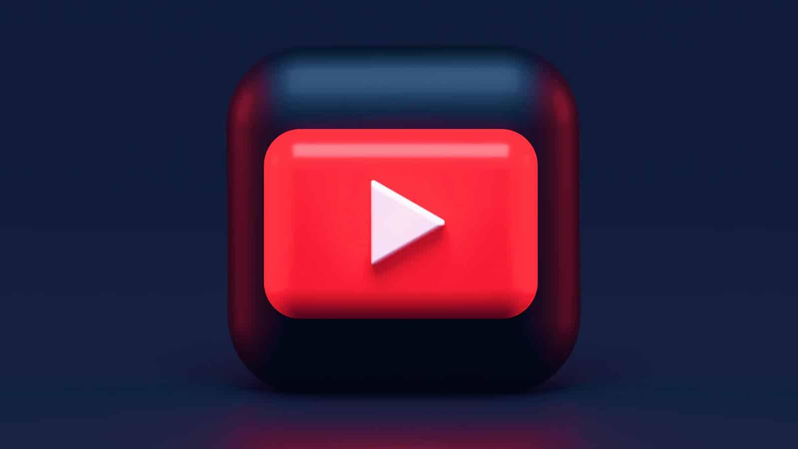 youtube icon on blue background