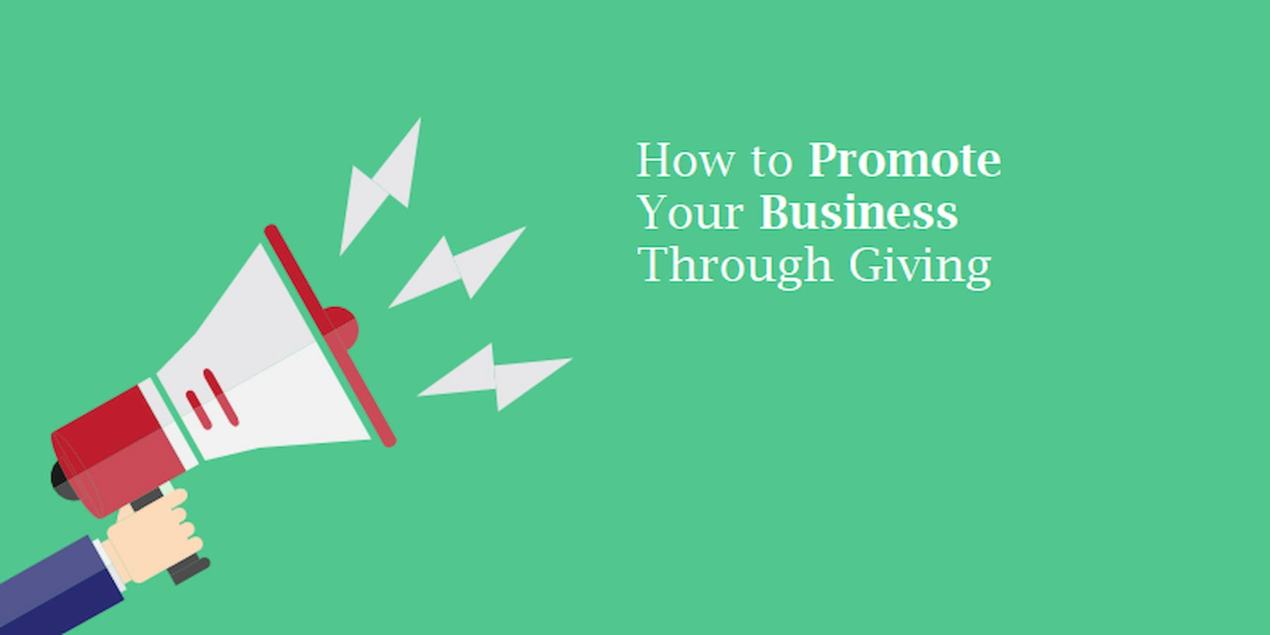 promoting your business through giving