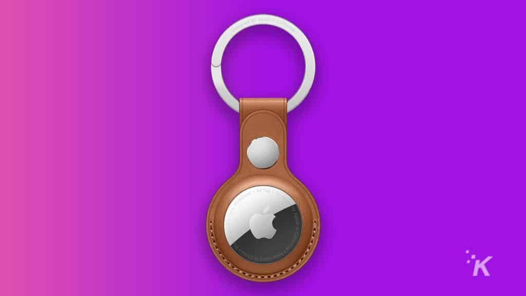 apple leather airtags holder