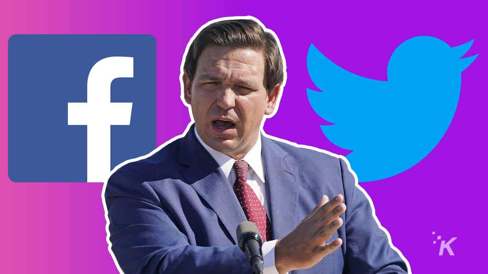 florida social media bill and governor bill desantis