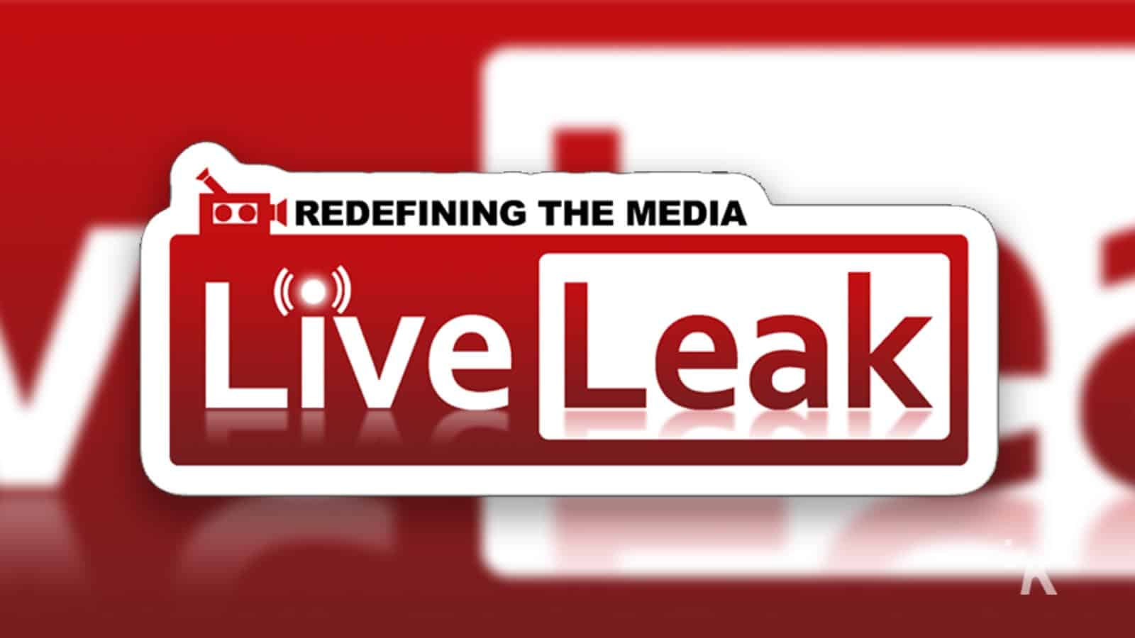 liveleak logo with blurred background