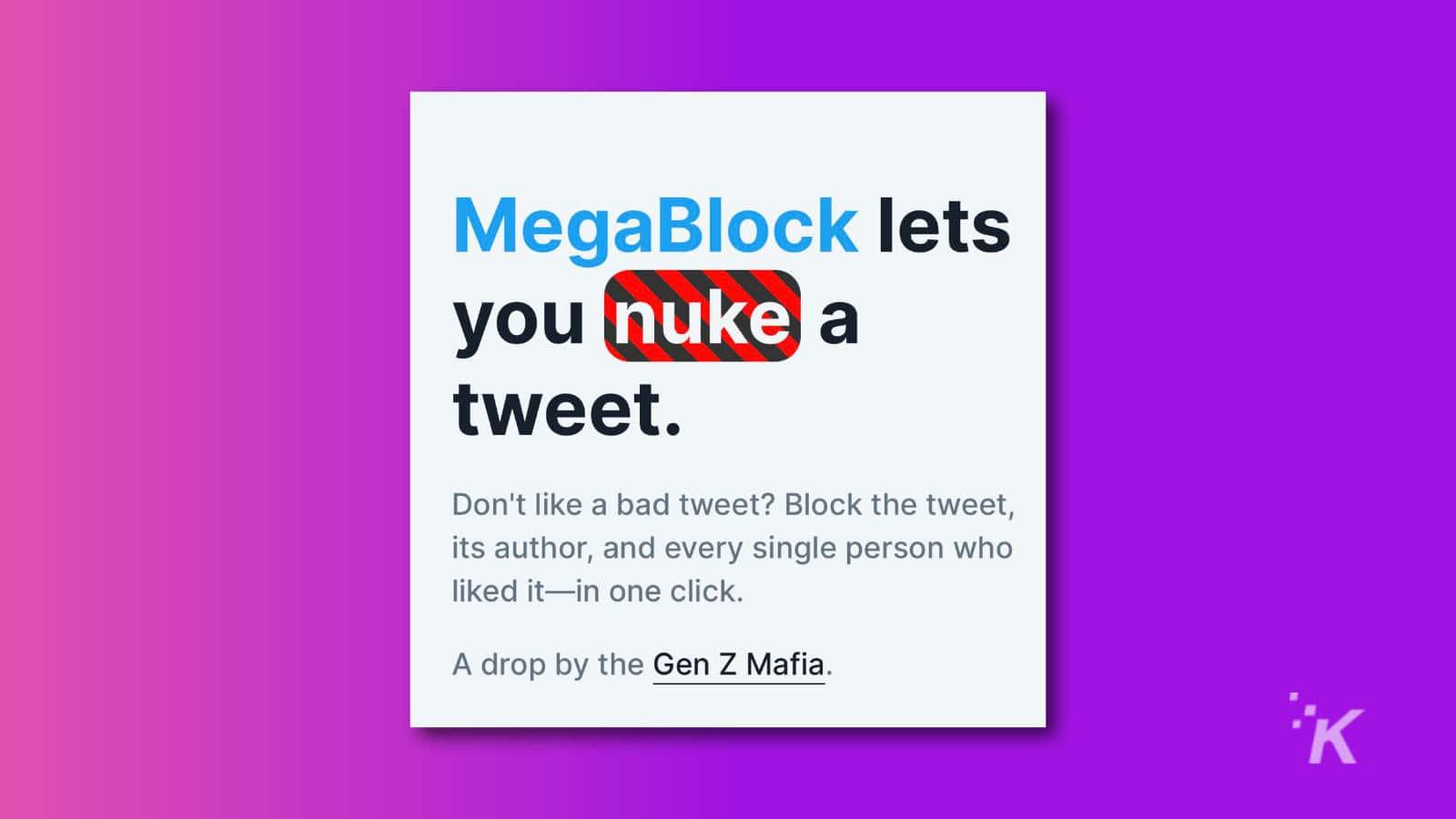 megablock from the gen z mafia