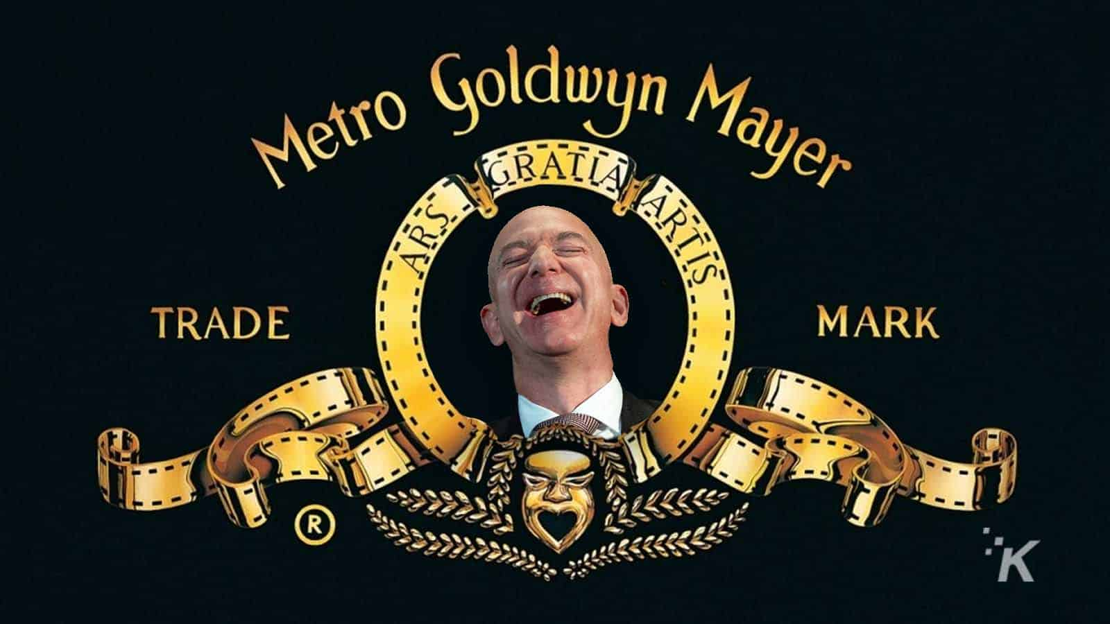 mgm logo with jeff bezo in it