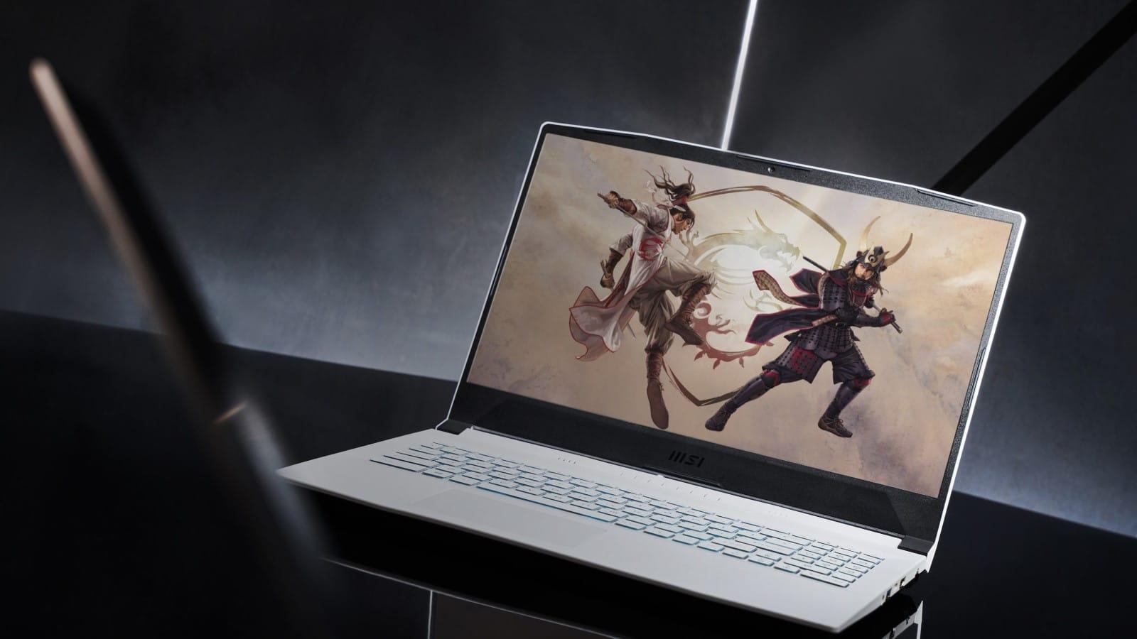 msi sword 17 laptop in white