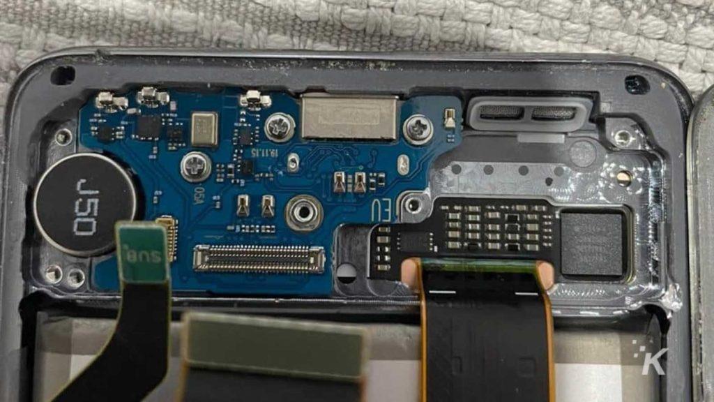 inside a smartphone