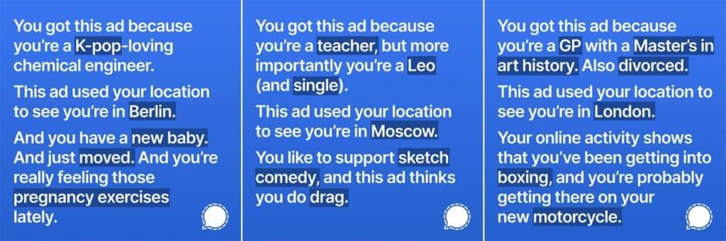 signal facebook ads