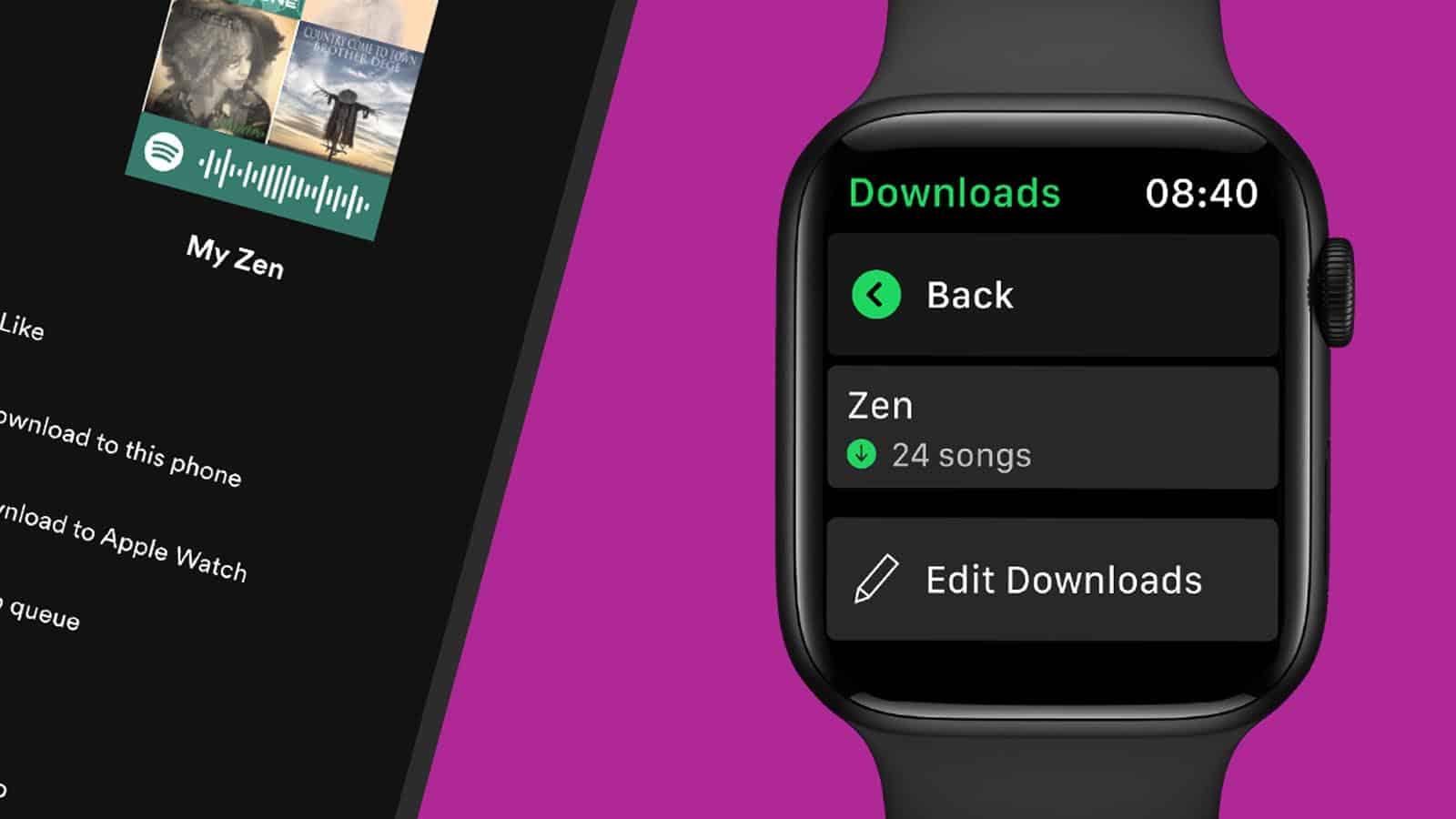spotify downloads on apple watch