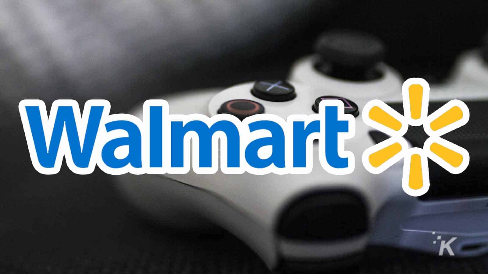 walmart game streaming with controller in the background
