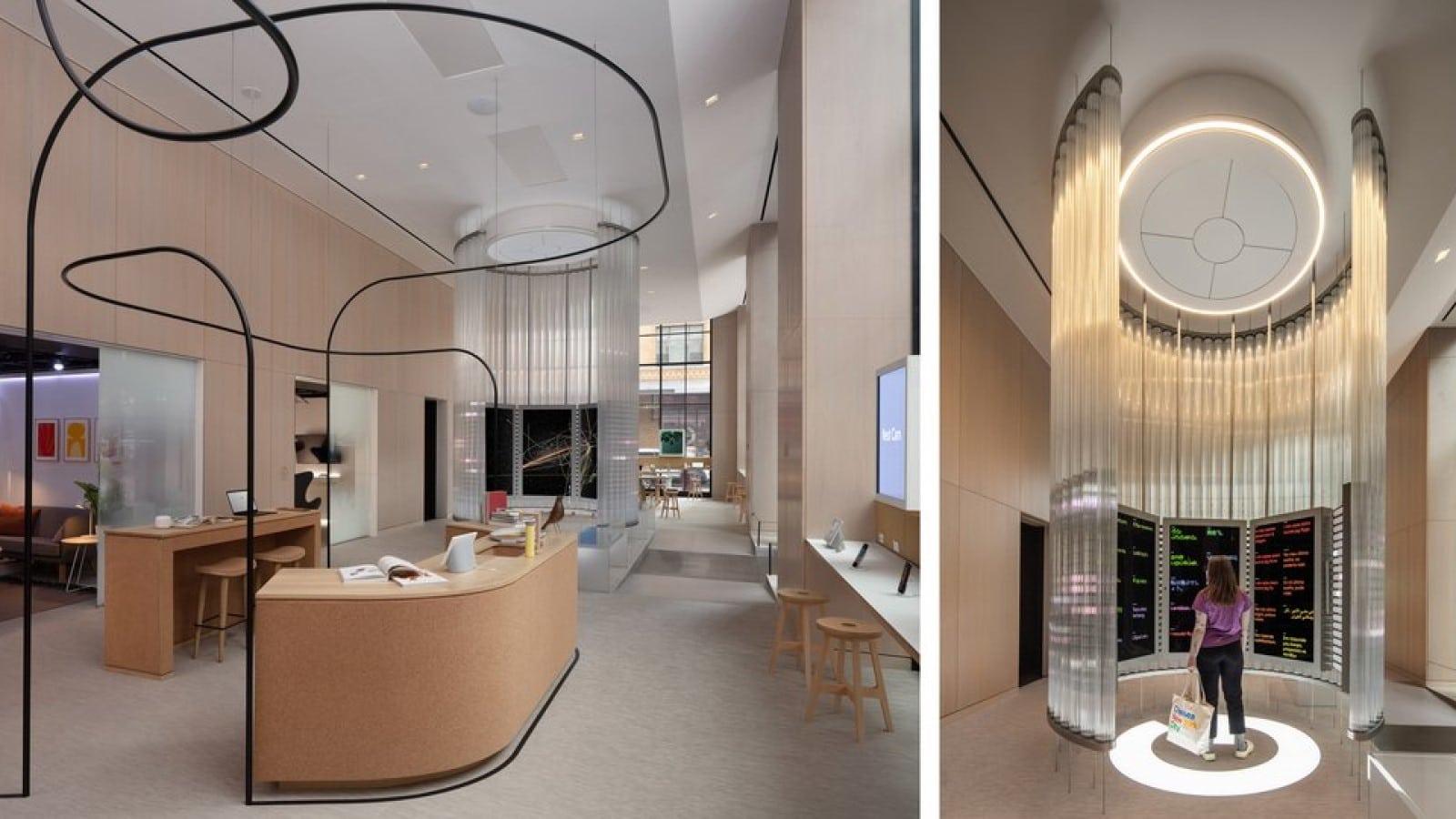 google imagination space inside google store nyc