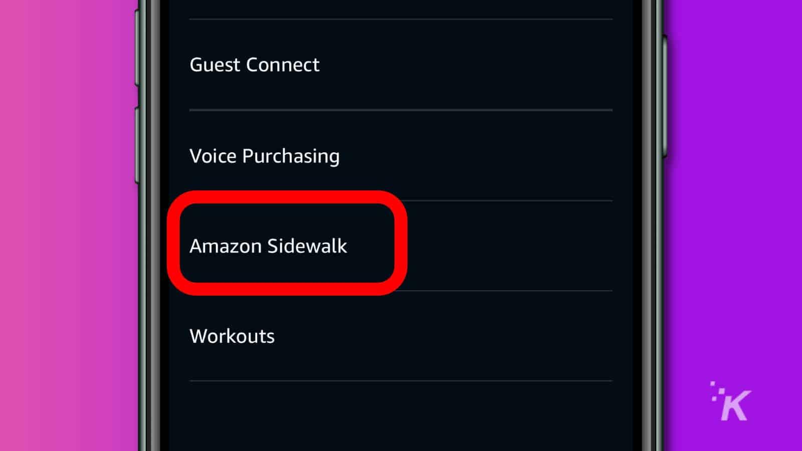 amazon alexa app account settings menu