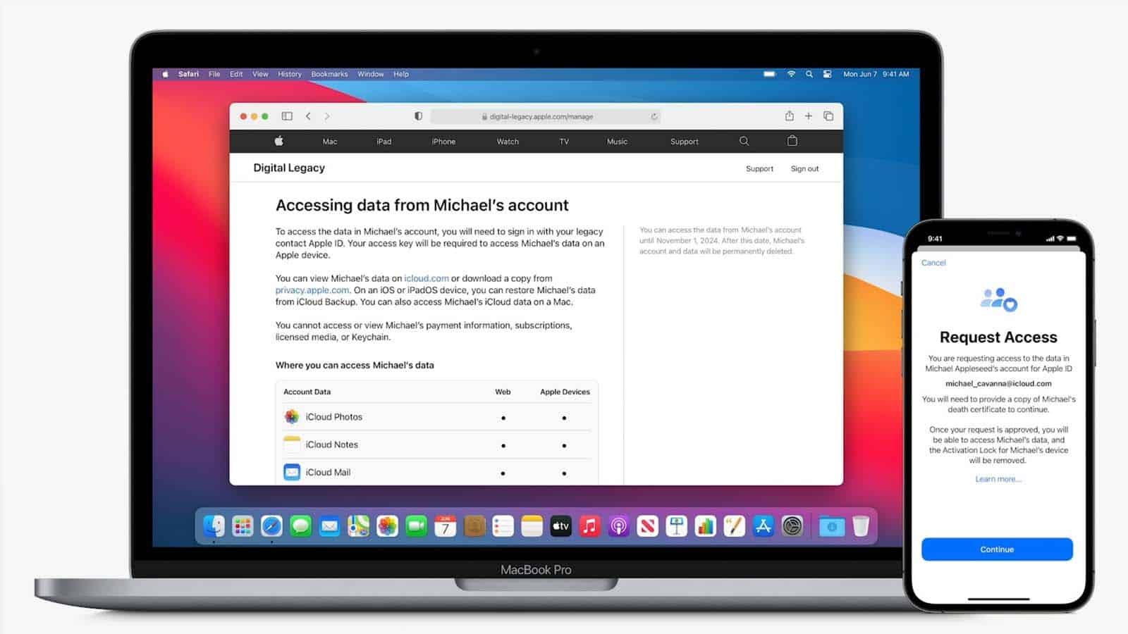 apple digital legacy feature