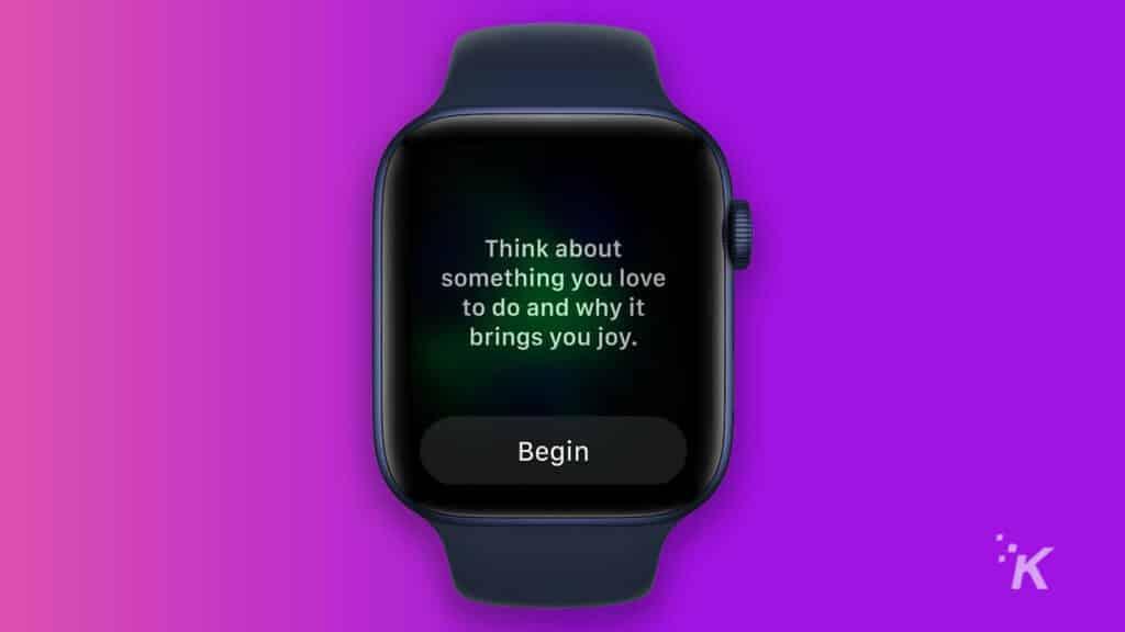 apple watch reflect mode