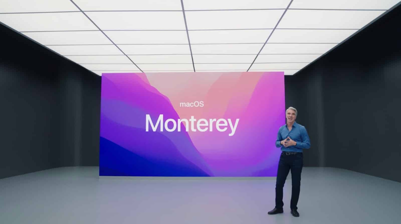 screenshot of apple wwdc 2021 at the start of the macos segment