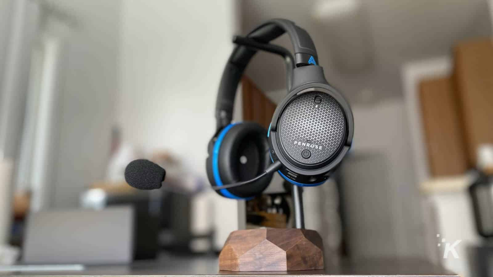 audeze penrose headphones on stand