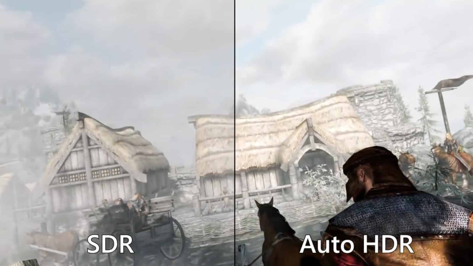 skyrim showing auto hdr in windows 11