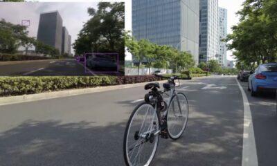 autonomous bicycle riding itself