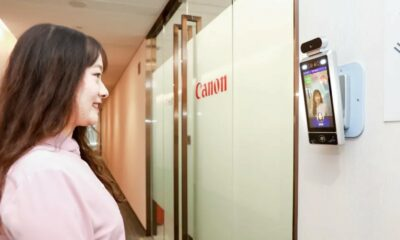 canon offices requiring facial recognition before entry