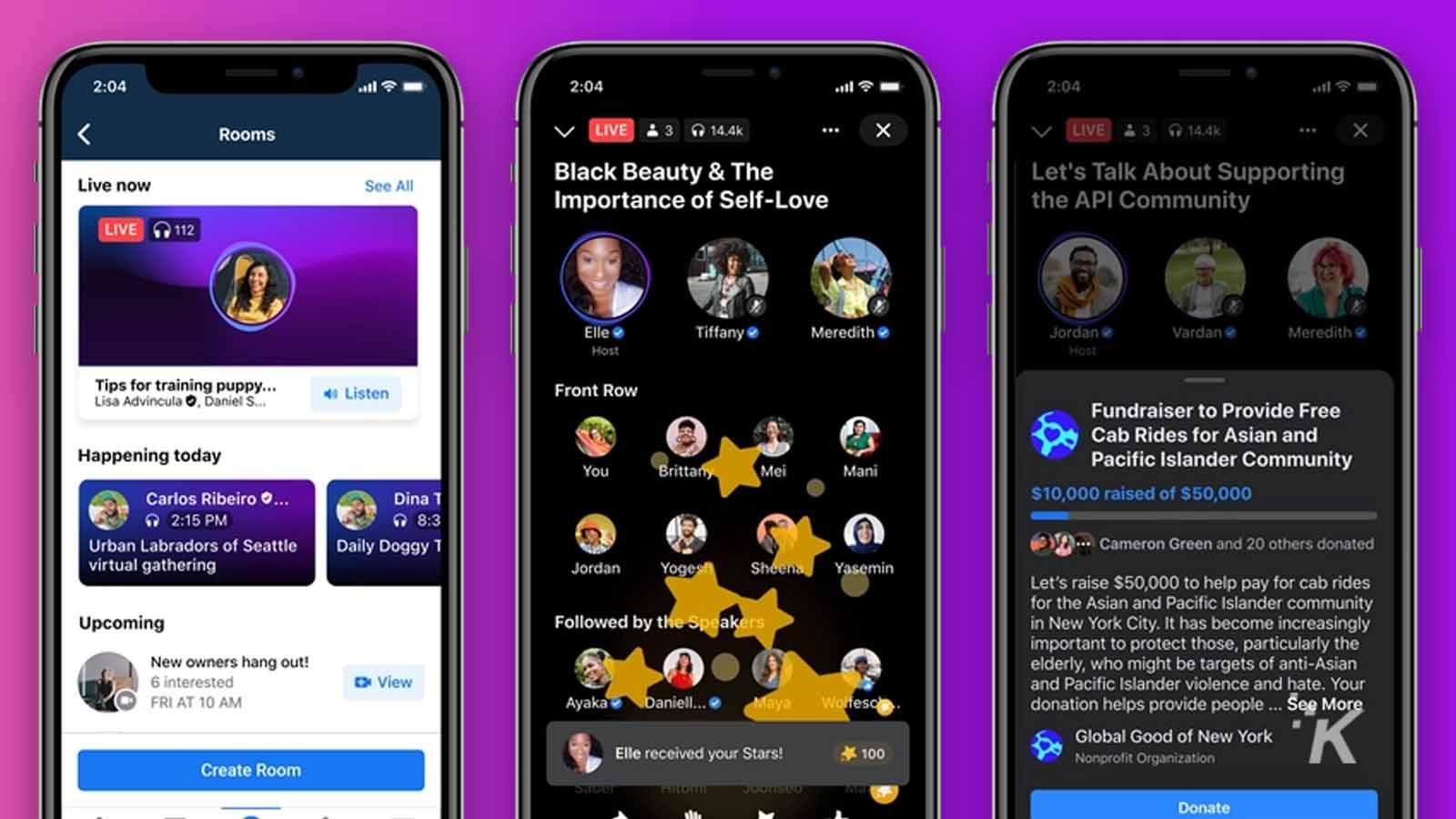 facebook live audio chatrooms