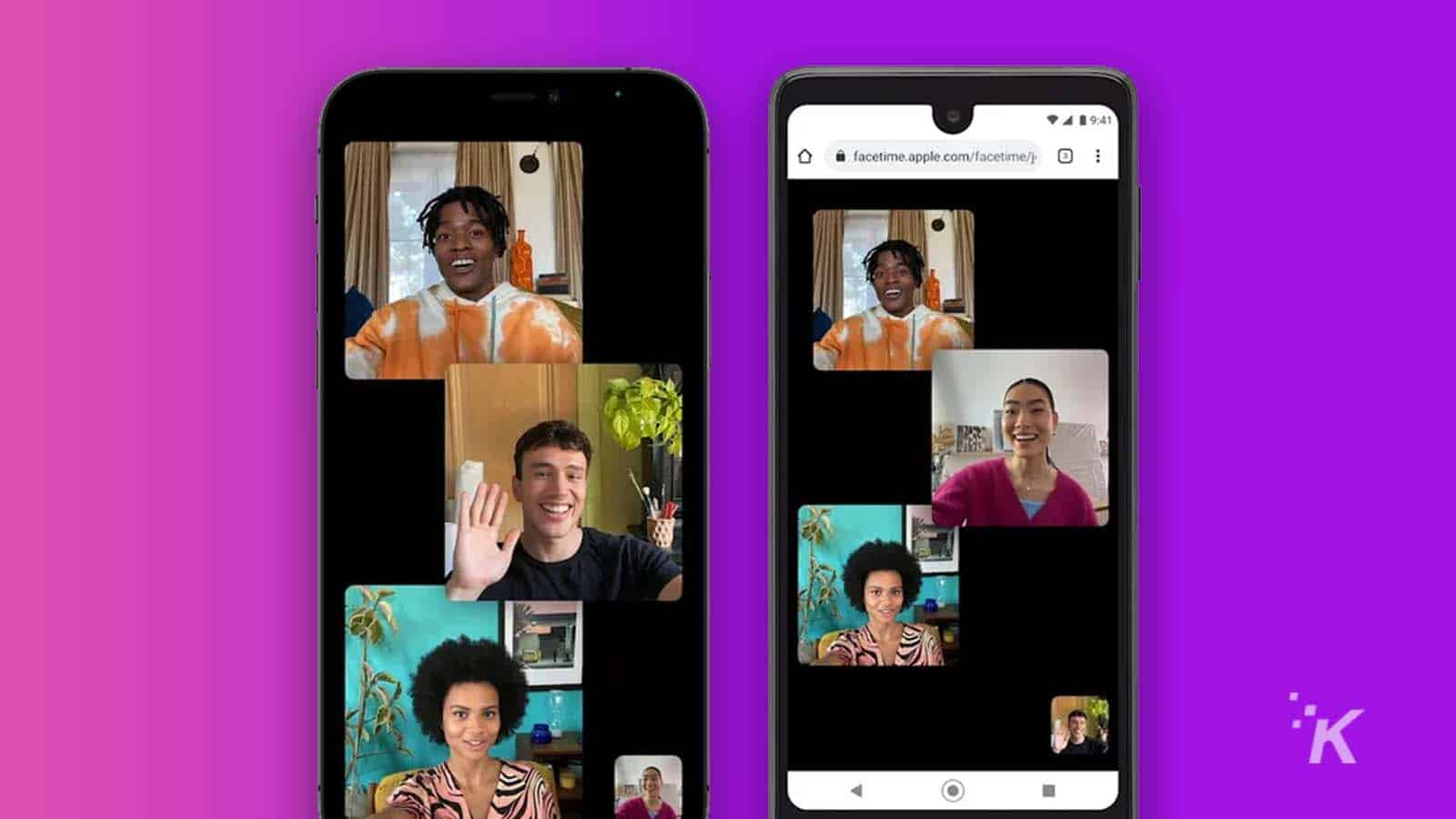 apple facetime on android phone