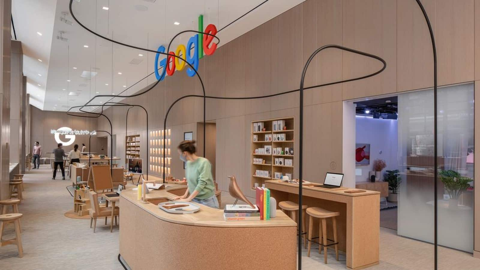 inside of the new google store in new york city